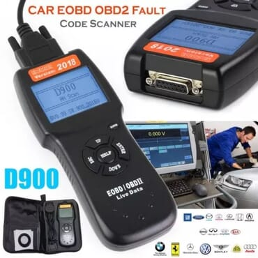 D900 Obd2 Diagnostic Scanner Tool & Kit Bag - 2018 Model