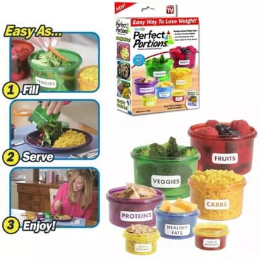 Perfect Portions Portion Control 7 Containers Set