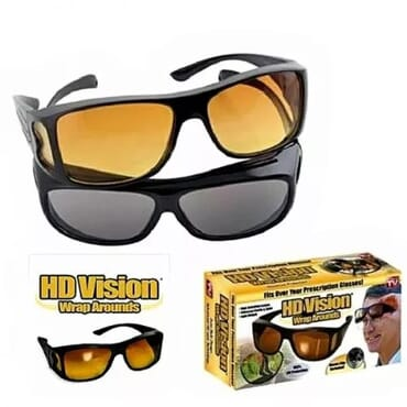 2pcs HD Vision Wraparound Day & Night Driving Glasses