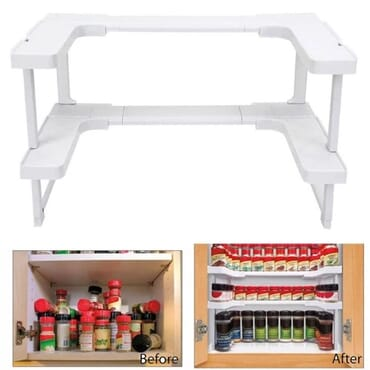 Adjustable Spicy Shelf Rack Organizer