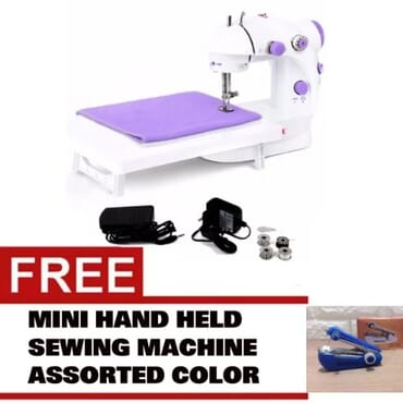 Foot Pedal Desktop Sewing Machine + Table Extension Board + FREE Mini Sewing Machine