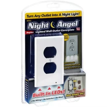Night Angel LED Lighted Wall Outlet Coverplate
