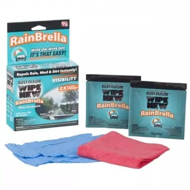 Wipe New Rainbrella Windshield Treatment
