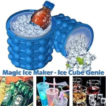 Genie Silicone Ice Cube Maker Ice Bucket Maker