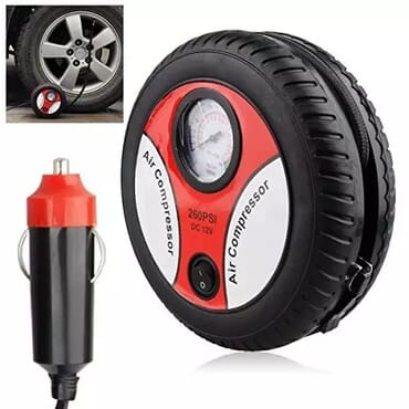 Portable Auto Car Pump Tyre Inflator And Air Compressor