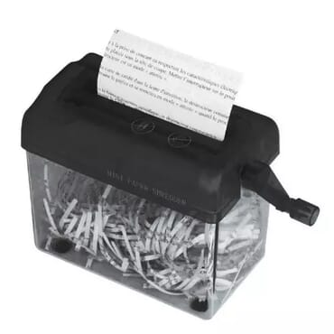 Desktop Manual Paper Shredder Machine