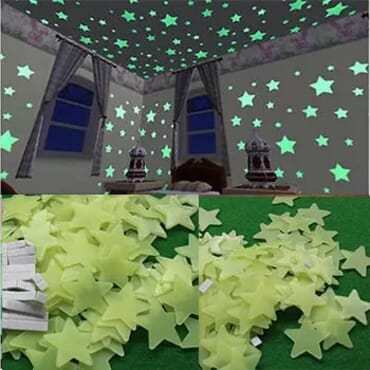 Glow In The Dark Luminous Wall Stickers -100/pack