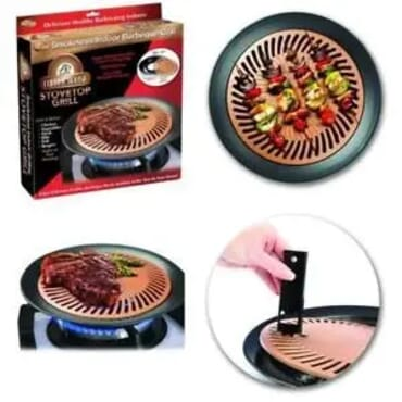 Smokeless Copper House Stove Top Grill