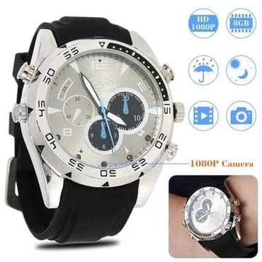 32gb - Night Vision 1080p Waterproof Spy Camera Watch - Silicon