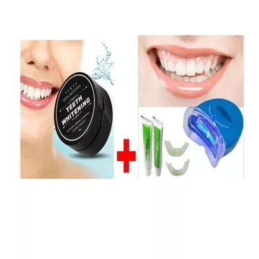 Activated Charcoal Teeth Whitening Powder + Laser WhiteLight