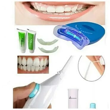 Power Dental Floss + Teeth Whitening Laser Whitelight