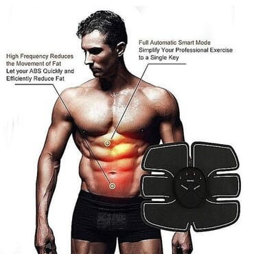 Smart Fitness Men / Women Abs Stimulator EMS Muscle Abdominal Toning Belt Body Beauty Mobile Gym