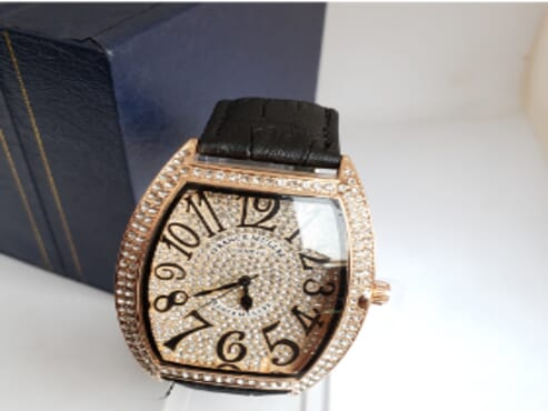 Frank Muller Studded Face Leather Wrist Watch
