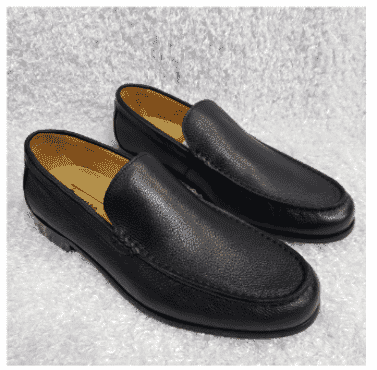Plain Rough Leather Men's Loafers + A Free Happy Socks