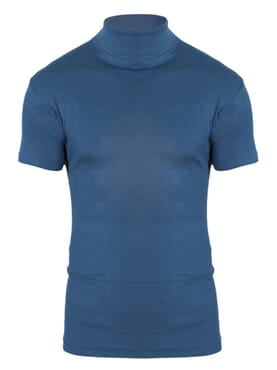 1-150 Blue Turtle Neck Short Sleeve T. Shirt