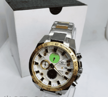 Edific Gold And Silver Chronograph Wrist Watch