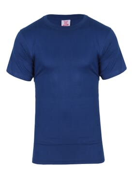 kanin Fashion Dark Blue Round Neck T-Shirt