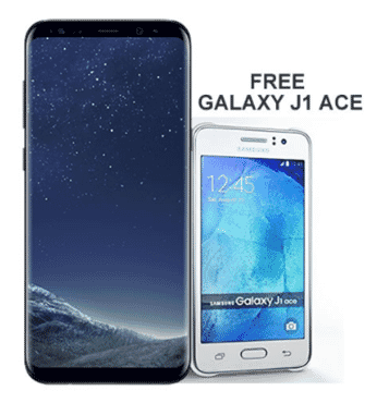 Samsung Galaxy S8 Plus (64GB, 4GB RAM) - Dual Sim plus Free Galaxy J1 Ace