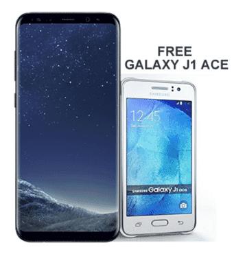 Samsung Galaxy S8 Plus (64GB, 4GB RAM) - Dual Sim plus Free Galaxy J1 Ace
