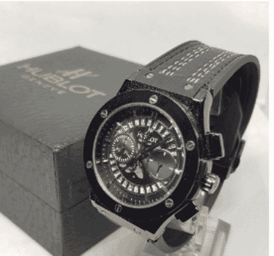 Hublot Black Chronograph Wrist Watch