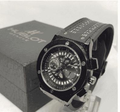 Hublot Black Chronograph Wrist Watch