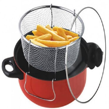 Non-Stick Manual Deep Fryer| Thick | 24cm | 3-in-1