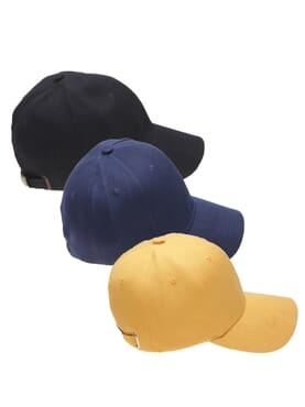 3 IN 1 COTTON FACE CAP BLACK/NAVY BLUE/YELLOW
