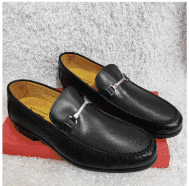 Pure Leather Maestro Loafer Shoe + A Free Happy Socks