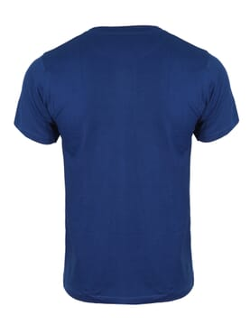 Fashion Dark Blue Round Neck T-Shirt
