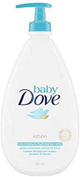 Dove Rich Moisture Lotion, Moisturizes Baby Skin - 591ml