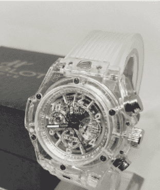 Hublot Transparent Chronograph Watch