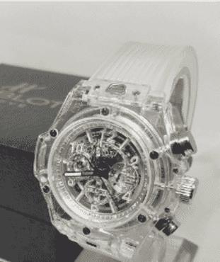 Hublot Transparent Chronograph Watch
