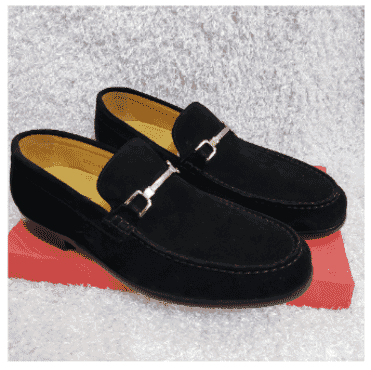 Maestro Suede Horsebit Loafer Shoe + A Free Happy Socks