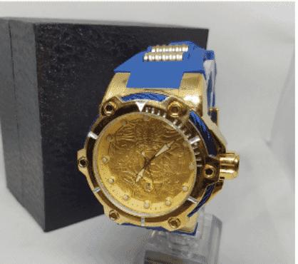 Invicta Blue Rubber Wrist Watch