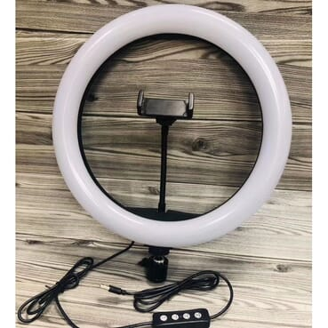 33 Inches LED Ring Light Dimmable For DSLR/Camera/Smartphone/Youtube/Makeup With 2.1meter Tripod,Bag