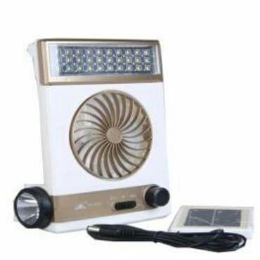 Multipurpose Mini Solar Light Fan With In-built Power Bank