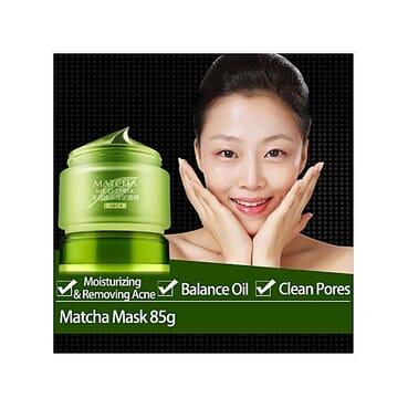 LAIKOU Green Tea Facial Matcha Mud Mask Mud Whitening Anti Ageing Anti Wrinkle Anti Acne Moisturizing Oil Control