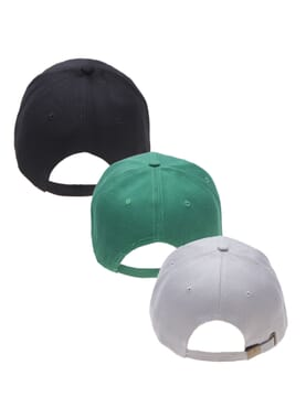 3 IN 1 COTTON FACE CAP BLACK/GREEN/GREY