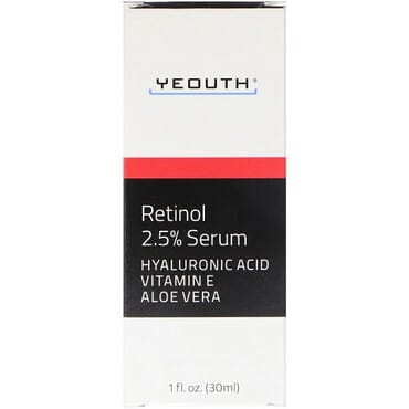 Yeouth Retinol 2.5% Serum with Hyaluronic Acid, Vitamin E & Aloe Vera