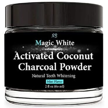 Radha Beauty Magic White Activated Coconut Charcoal Powder Natural Teeth Whitening