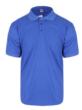 PLAIN POLO T-SHIRT BLUE