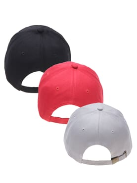 3 IN 1 COTTON FACE CAP BLACK/RED/GREY