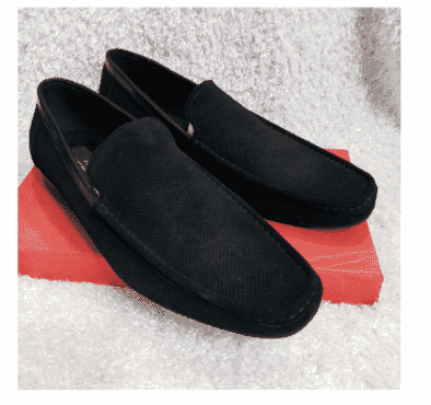 Black Suede Monk Loafers + A Free Happy Socks