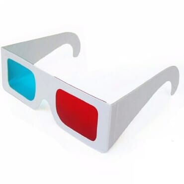 3D Virtual Glasses - Red & Blue