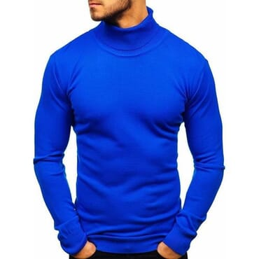 Cotton Turtleneck Sweater for Men