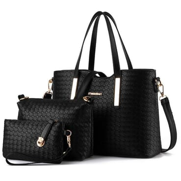 3 In 1 Premium PU Leather Female Handbag/Women Handbag With Shoulder Strap