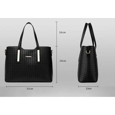 3 In 1 Premium PU Leather Female Handbag/Women Handbag With Shoulder Strap