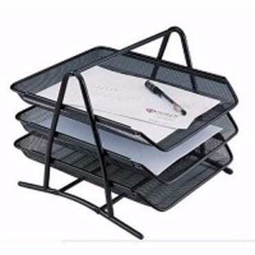 3 Layer Metal Mesh Desk Organizer