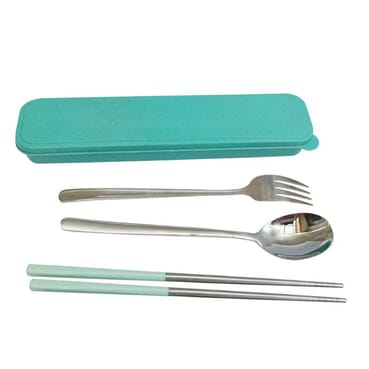 3 Pcs Camping Stainless Steel Travel Utensils Cutlery Set