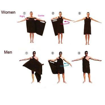 Super Soft Fast Dry Wearable Body Wrap Towel Bathrobes